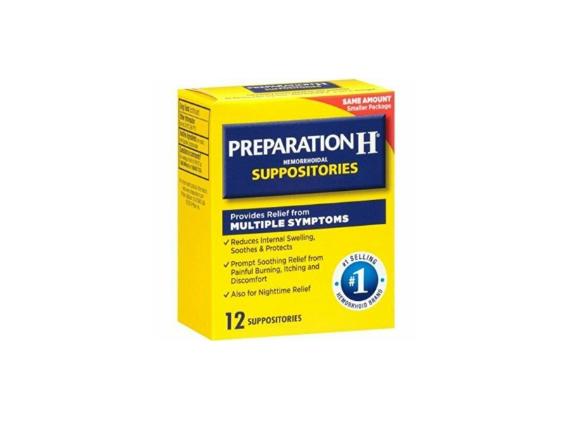 Preparation H Hemorrhoidal Suppositories, 12 count
