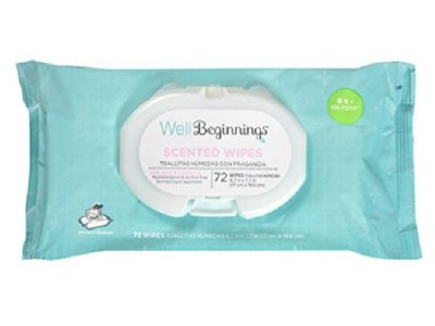 Well Beginnings Premium Baby Wipes Softpack, Scented, 72 ct - Image 1
