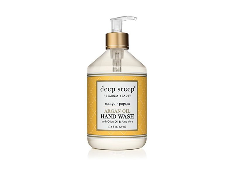 Deep Steep Argan Oil Liquid Hand Wash, Mango Papaya, 17.6 fl oz