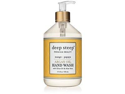 Deep Steep Argan Oil Liquid Hand Wash, Mango Papaya, 17.6 fl oz