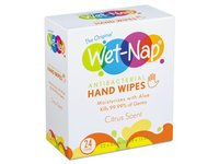 Antibacterial Hand Wipes, White, Citrus Scent, 24 ct - Image 2