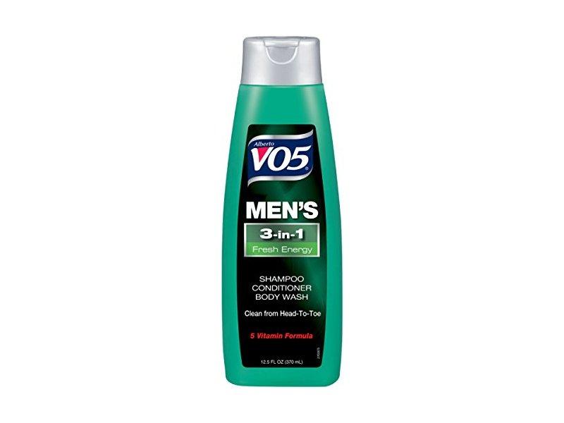 VO5 Men's 3-in- Shampoo Conditioner Body Wash Fresh Energy, 12.5 fl oz