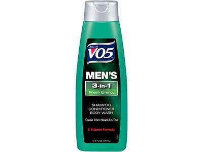 VO5 Men's 3-in- Shampoo Conditioner Body Wash Fresh Energy, 12.5 fl oz