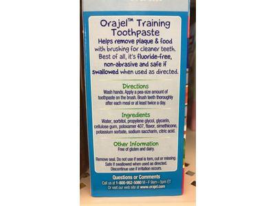 Orajel Elmo Fluoride-Free Training Toothpaste, 1.5 Ounce - Image 4