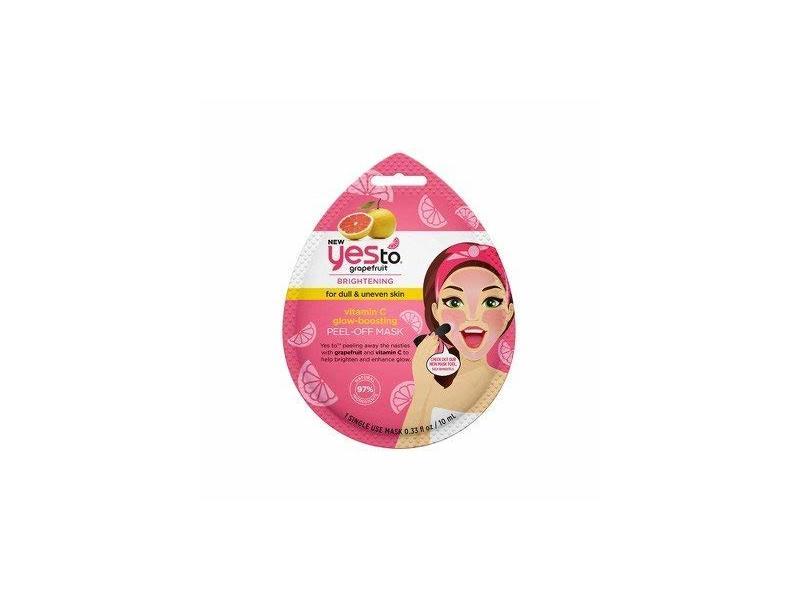 Yes To Grapefruit Vitamin C Glow Boosting Peel Off Mask, 0.33 fl oz, 2 ct.