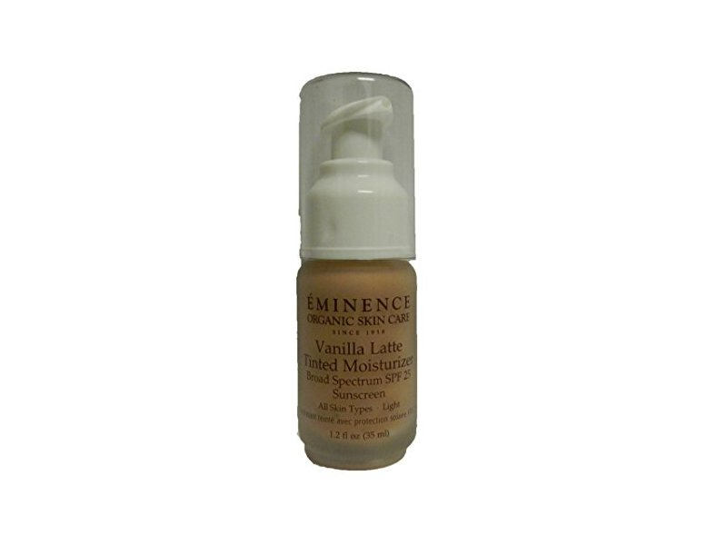 Eminence Organic Light Vanilla Latte Tinted Moisturizer SPF 25, 1.2 Ounce