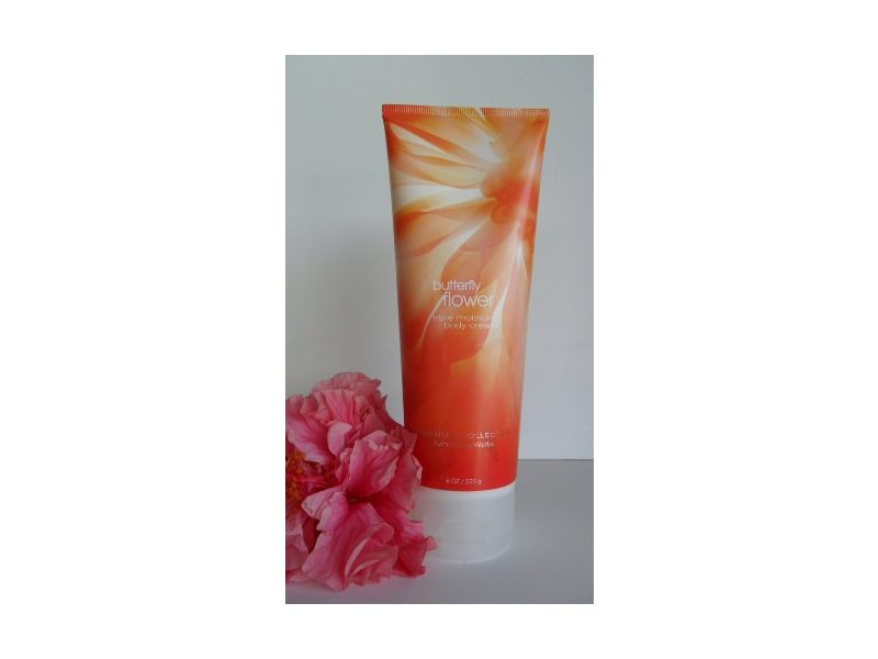 Bath and Body Works Signature Collection Butterfly Flower Triple Moisture Body Cream 8oz