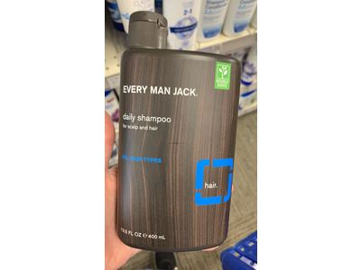 Every Man Jack Daily Signature Mint Shampoo for All Hair Types, 13.5 oz - Image 3