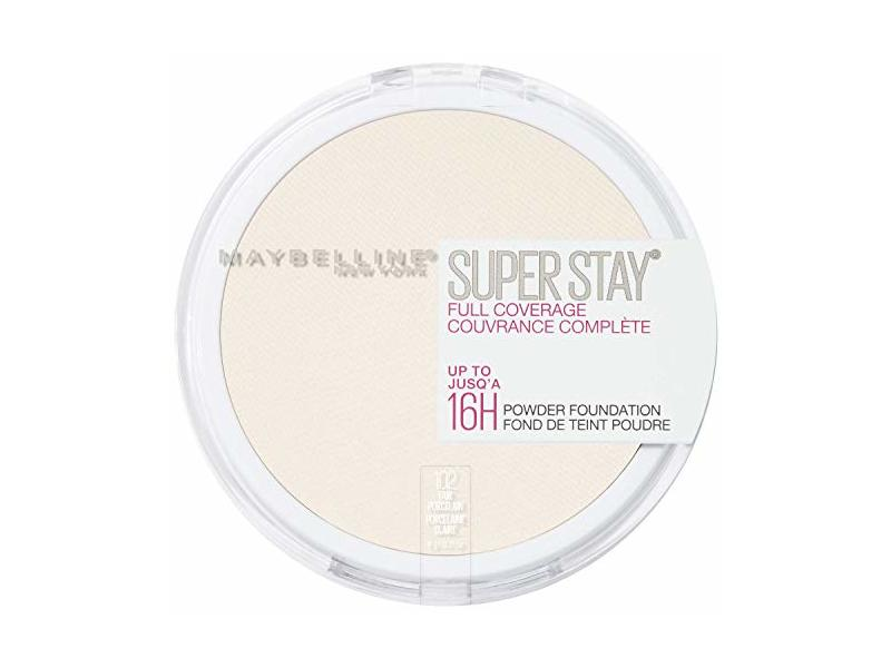 Maybelline New York Super Stay Full Coverage Powder Foundation Makeup Matte Finish, Fair Porcelain, 0.18 Ounce