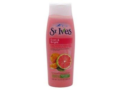 St Ives Even & Bright Body Wash, Pink Lemon and Mandarin Orange, 13.5 fl oz