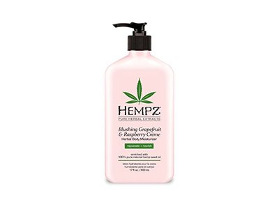 Hempz Herbal Body Moisturizer, Light Pink, Blushing Grapefruit/Raspberry Creme, 17 Fluid Ounce - Image 1