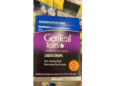 GenTeal Tears Lubricant Eye Drops, Moderate Liquid Drops, 36 Sterile, Single-Use Vials, 0.9 ml - Image 3