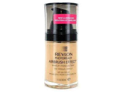 Revlon PhotoReady Airbrush Effect Makeup, Vanilla/002, 1 Fluid Ounce - Image 1