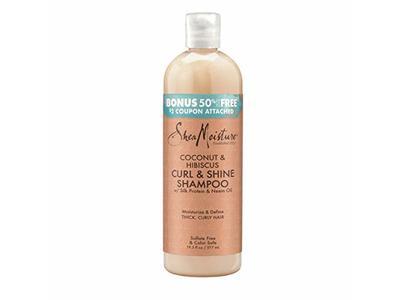 Sheamoisture Shea Moisture Coconut & Hibiscus Curl & Shine Shampoo Bonus (Pack of 2)