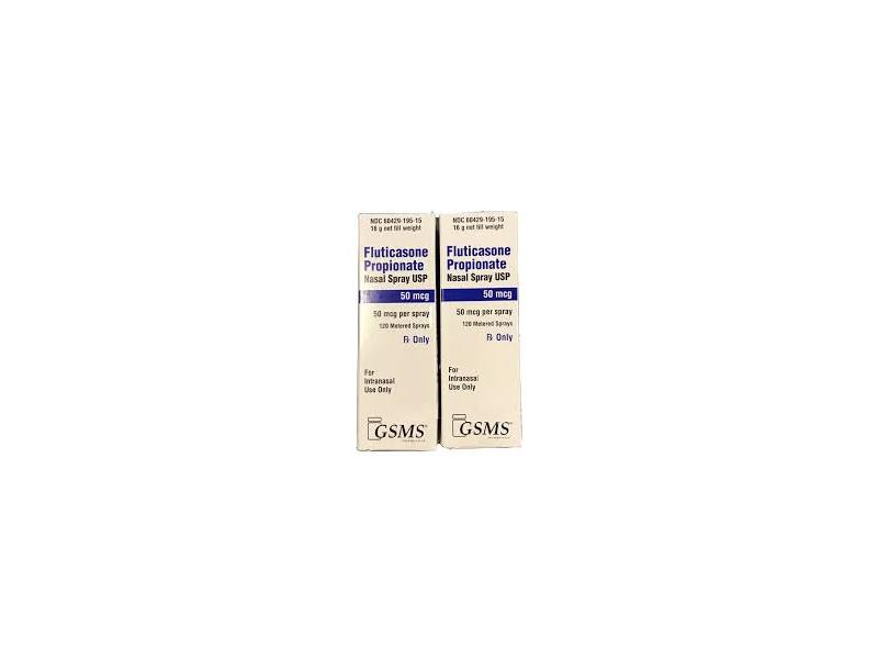 Fluticasone Propionate Nasal Spray Usp (RX), 50 mcg GSMS Pharma