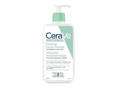 CeraVe Foaming Facial Cleanser, 355ml - Image 1