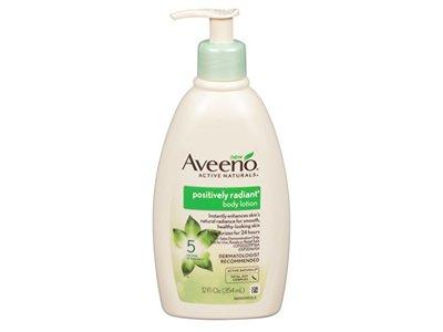 Aveeno Positively Radiant Body Lotion, 12 Ounce