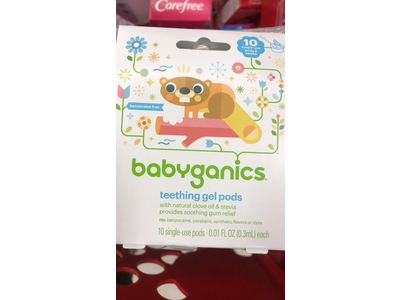 Babyganics Single-Use Teething Gel Pods, 10 CT - Image 4