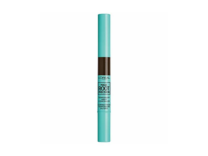 L'Oreal Paris Hair Color Magic Root Precision Temporary Gray Hair Color Concealer Brush, 4 Dark Brown, 0.05 Fluid Ounce