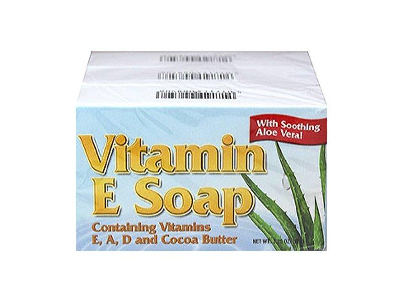 Natural Vitamin E Soap With Cocoa Butter, 3.25 Oz.