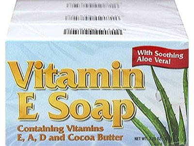 Natural Vitamin E Soap With Cocoa Butter, 3.25 Oz.