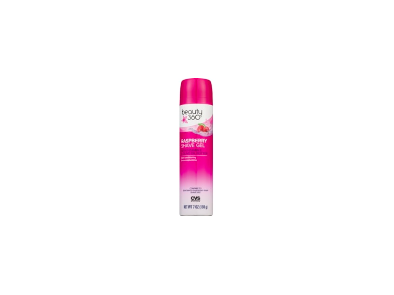 Beauty 360 Raspberry Shave Gel, 7 oz