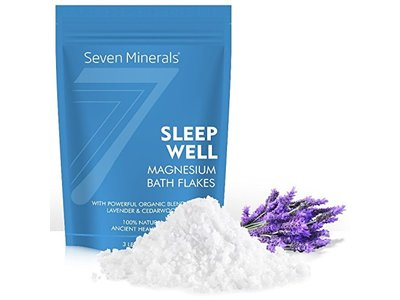 Seven Minerals Sleep Well Magnesium Chloride Flakes 3lb With Organic Cedarwood & Lavender