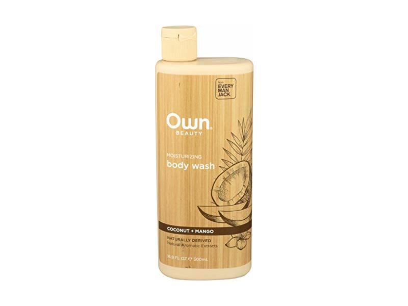 Own Beauty Moisturizing Body Wash, Coconut + Mango, 16.9 fl oz/500 mL