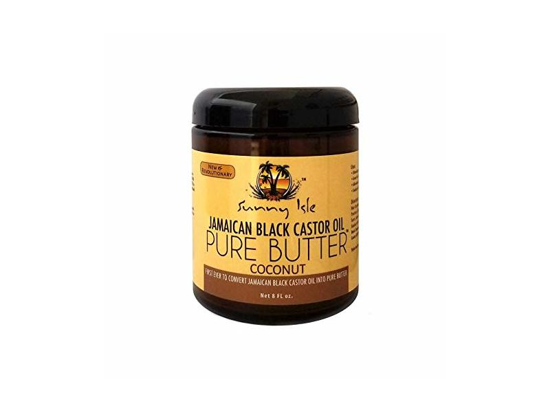 Sunny Isle Jamaican Black Castor Oil Pure Butter, Coconut, 8 fl oz
