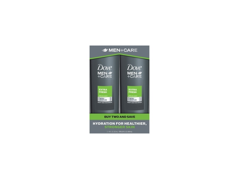 Dove Men+Care Body and Face Wash For Dry Skin Extra Fresh