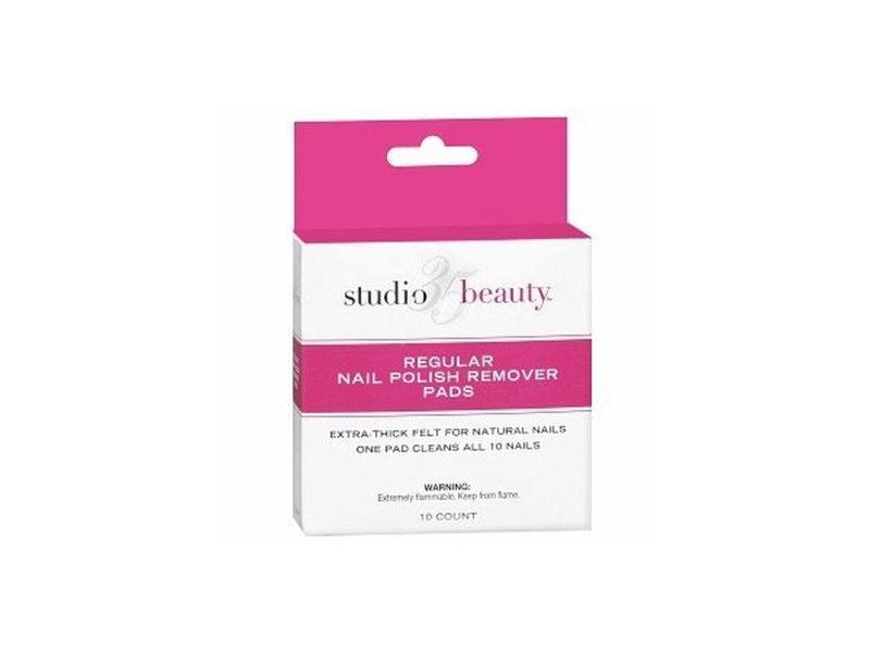 Studio 35 Beauty Regular Nail Polish Remover Pads, 10 count