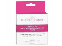 Studio 35 Beauty Regular Nail Polish Remover Pads, 10 count - Image 1