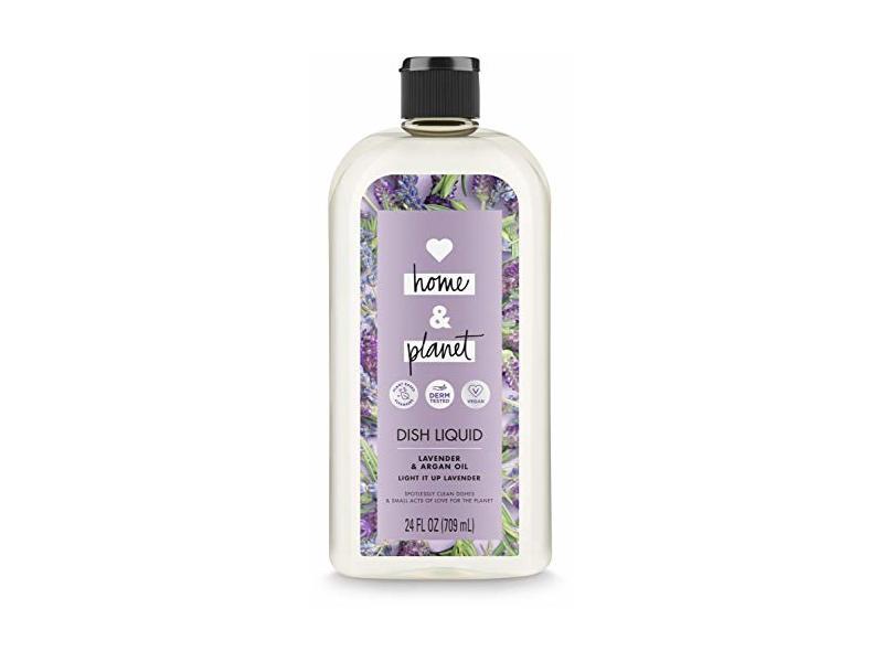 Love Home & Planet Dish Liquid, Lavender & Argan Oil, 24 fl oz/709 mL