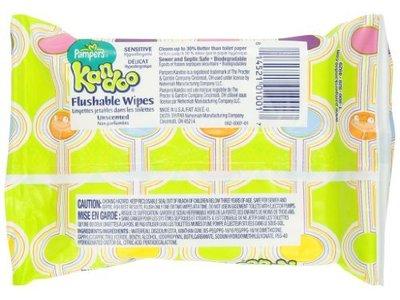 Pampers Kandoo Flushable Wipes, Sensitive, Soft Tub, 24 Count - Image 4