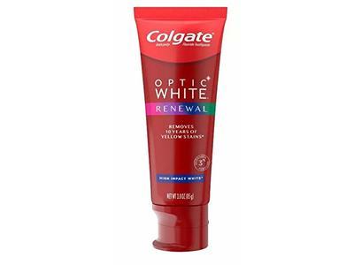 Colgate Optic White Renewal Toothpaste, High Impact White, 3 oz/85 g