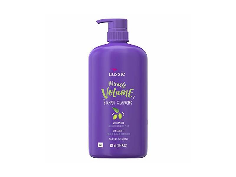 Aussie Miracle Volume Shampoo With Plum & Bamboo, 30.4 fl oz