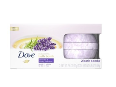 Dove Milk Swirls Bath Bombs Lavender & Honey Macaron