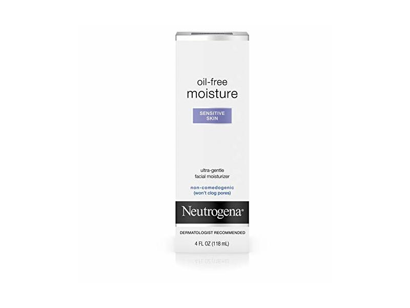 Neutrogena Oil-Free Moisture Facial Moisturizer, Sensitive Skin, 4 fl oz