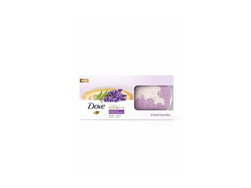 Dove Bath Bomb Milk Swirls Lavender & Honey Macaroon, 2 count