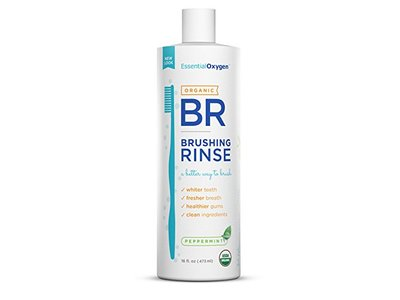 Essential Oxygen Organic Brushing Rinse Toothpaste, Peppermint 16 fl. oz