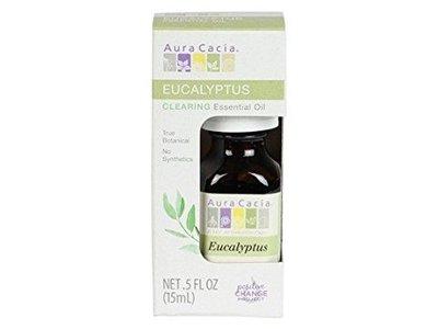 Aura Cacia Eucalyptus Essential Oil, Boxed, 0.5 Ounce