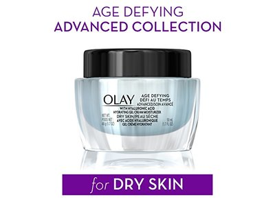 Olay Age Defying AdvancedGel Cream Moisturizer with Hyaluronic Acid for Dry Skin, 50 mL, 1.7 oz - Image 3