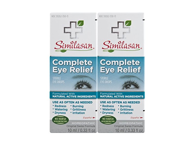 Similasan Complete Eye Relief Eye Drops, 0.33 Ounce