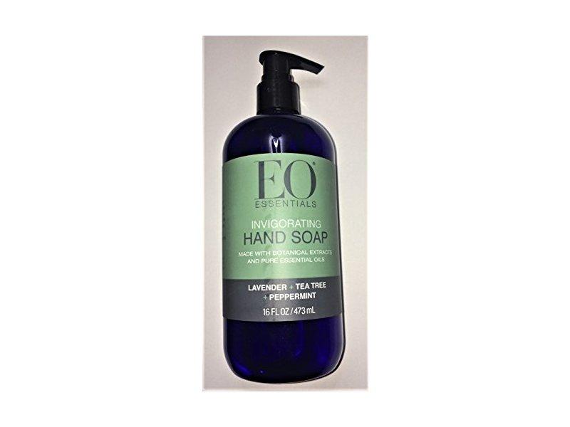 EO Essentials Invigorating Hand Soap, Lavender + Tea Tree + Peppermint, 1.6 fl oz/473 mL