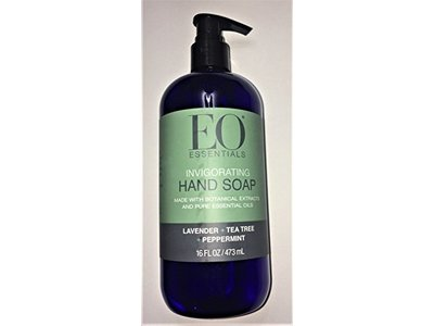 EO Essentials Invigorating Hand Soap, Lavender + Tea Tree + Peppermint, 1.6 fl oz/473 mL