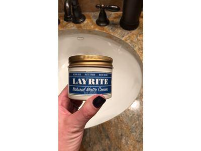 Layrite Natural Matte Cream Pomade, 4.25 oz. - Image 4