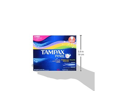 Tampax Pearl Plastic Tampons, Multipack, Light/Regular/Super Absorbency, Unscented, 50 Count - Image 11