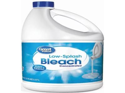 Great Value Low-Splash Concentrated Bleach, 121 fl oz