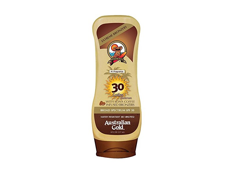 Australian Gold Spf 30 Broad Spectrum Sunscreen Lotion With Kona Bronzers, 8 Ounce