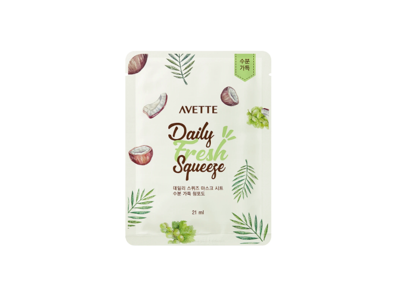Avette Daily Fresh Squeeze Mask, Grape, 21 ml